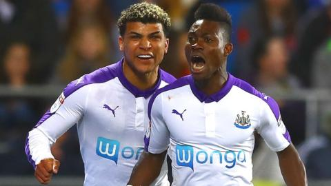 Newcastle goalscorer Christian Atsu