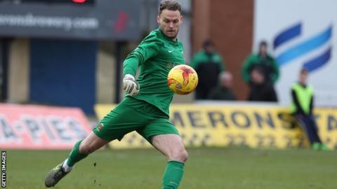 Motherwell goalkeeper Trevor Carson