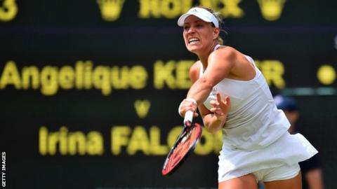 Top seed Angelique Kerber reaches second round at Wimbledon