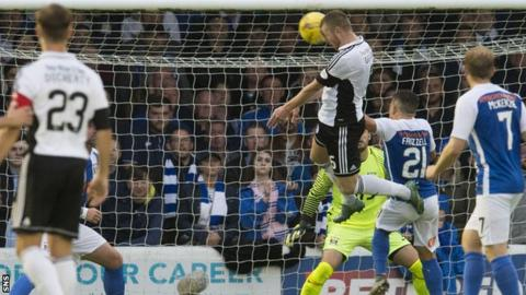 Ayr United's Andy Geggan