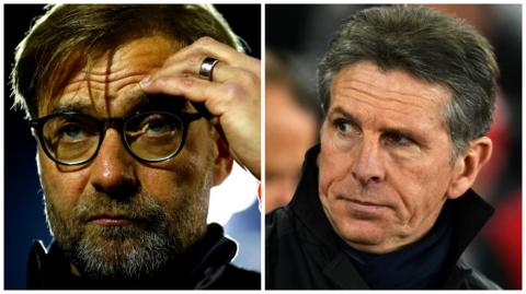 Liverpool manager Jurgen Klopp and Southampton boss Claude Puel