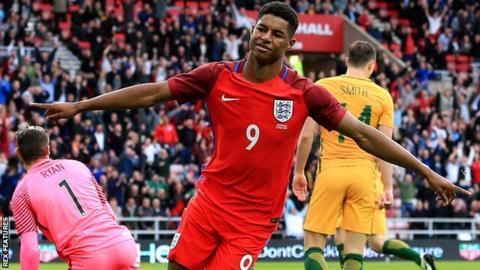 England striker Marcus Rashford
