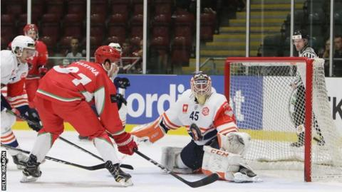 Cardiff Devils kept up the pressure on the Vaxjo Lakers goal