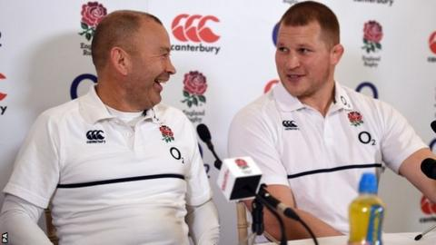 Eddie Jones and Dylan Hartley