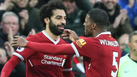 Salah scores for Liverpool