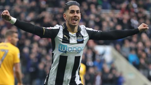 Newcastle goalscorer Ayoze Perez