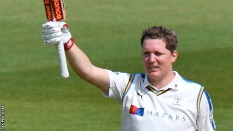 Gary Ballance reaches 100 against Hampshire