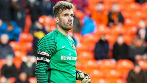 Dundee United goalkeeper Cammy Bell