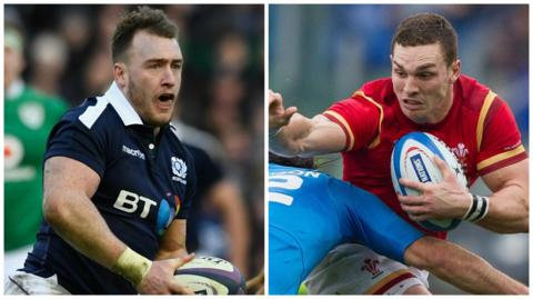 Stuart Hogg and George North