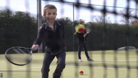 Free fun sessions for kids are a major part of the Great British Tennis Weekend