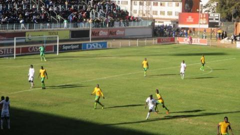 The new pitch at Harare's Rufaro stadium