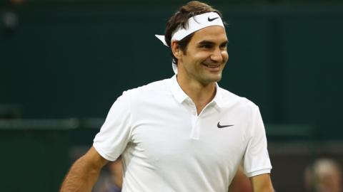 Marcus Willis lobs Roger Federer