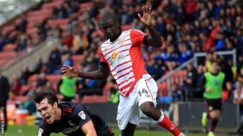 French-born Zoumana Bakayogo came up against Doncaster Rovers' John Marquis in Crewe's early-season win over the League Two leaders.