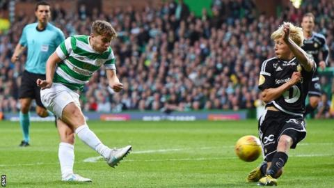 James Forrest shoots wide