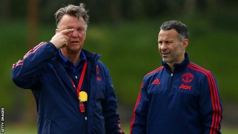 Louis van Gaal and Ryah Giggs
