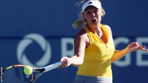 Danish tennis player Caroline Wozniacki
