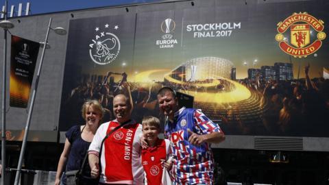 Ajax fans in Stockholm