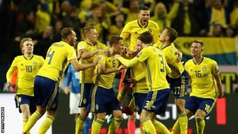 Italy in danger of missing first World Cup since 1958 as Sweden win first leg