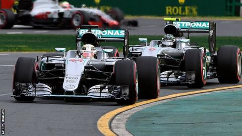 Lewis Hamilton beat Mercedes team-mate Nico Rosberg to pole in Australia