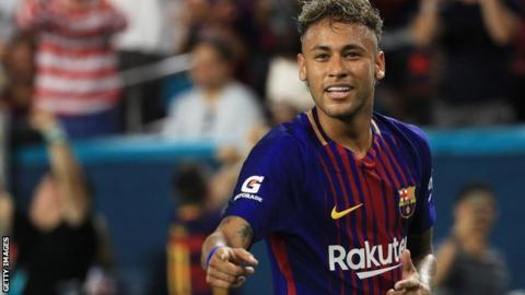 Neymar joined Barcelona from Santos in 2013