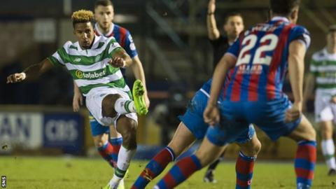 Scott Sinclair curls in the opener for Celtic
