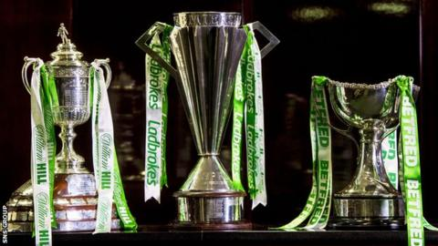 All three of Scotland's major trophies are sponsored by gambling firms