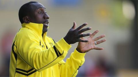 Burton Albion manager Jimmy Floyd Hasselbaink