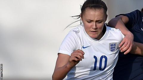 Georgia Stanway in action for England Under-17
