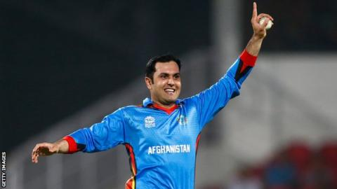 Mohammed Nabi took eight wickets for Afghanistan in the match