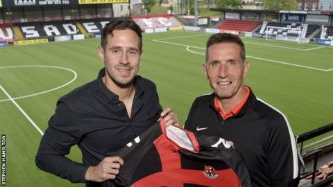 Ward is the second signing by Crusaders manager Stephen Baxter during the transfer window