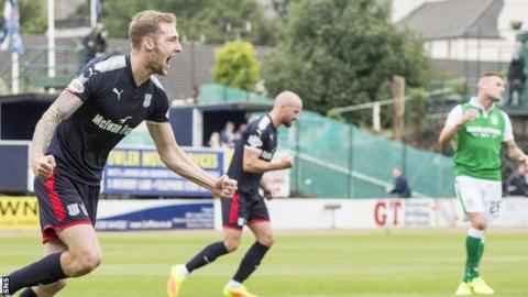 Dundee earn first point of the season with draw against Hibs