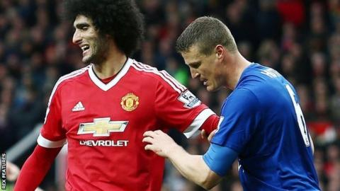 Marouane Fellaini and Robert Huth