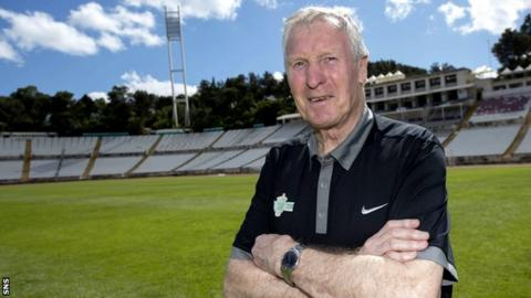 Billy McNeill pictured in 2014 at the Estadio Nacional in Portugal, where Celtic's 'Lisbon Lions' won the European Cup in 1967