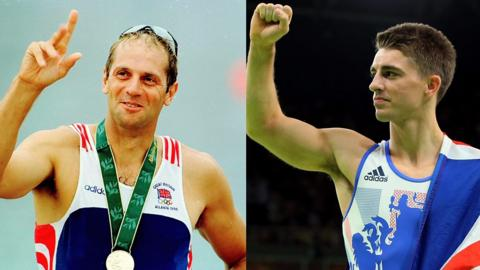 Great Britain's Steve Redgrave and Max Whitlock