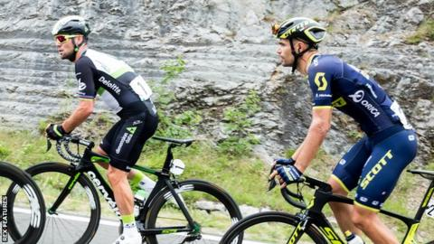 Mark Cavendish and Luka Mezgec