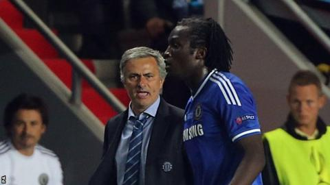 Manchester United manager Jose Mourinho and Romelu Lukaku