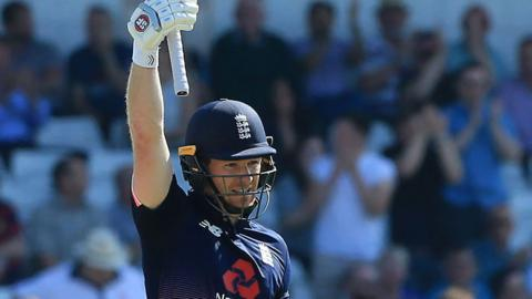 Eoin Morgan celebrates