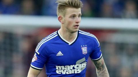 Ipswich midfielder Luke Hyam