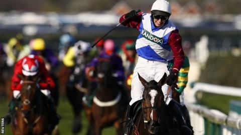 One For Arthur and jockey Derek Fox win the Grand National