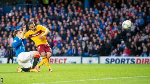 Motherwell defeated Rangers 6-1 on aggregate in last season's Premiership play-off final