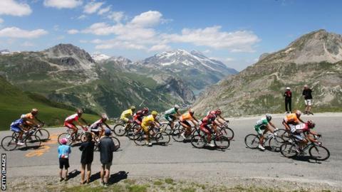 Alps stage on the Tour de France
