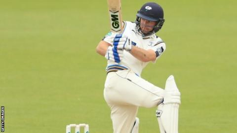 Yorkshire skipper Andrew Gale departed just 17 runs short of a first Championship century of the summer