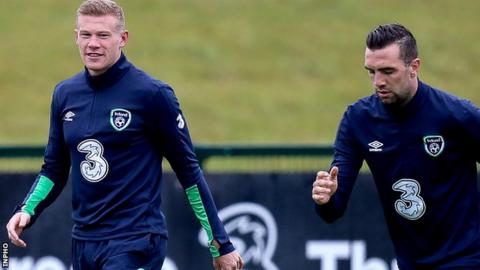 James McClean (left) and Shane Duffy should both be involved in Friday's friendly against Mexico