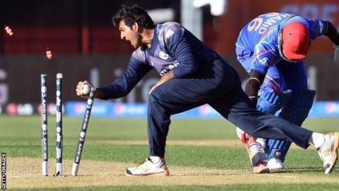 Majid Haq in action for Scotland