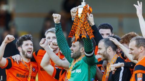 Dundee United lift the Irn-Bru Cup