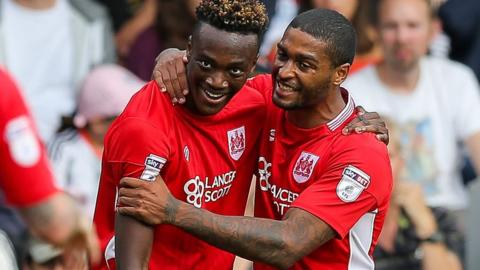 Tammy Abraham and Mark Little
