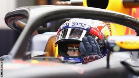 Red Bull test the new halo design feature designed to protect drivers