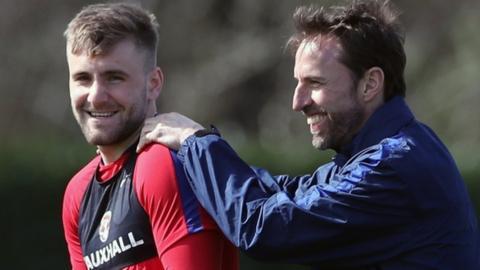 Gareth Southgate and Luke Shaw