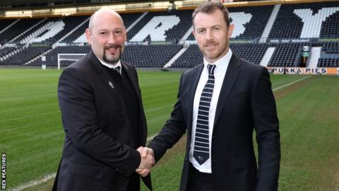 Sam Rush (left) and Gary Rowett
