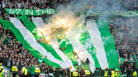 The Green Brigade section at Celtic Park